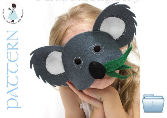 Koala Lou Mask PATTERN  One size fits most  INSTANT by EbonyShae, $4.00