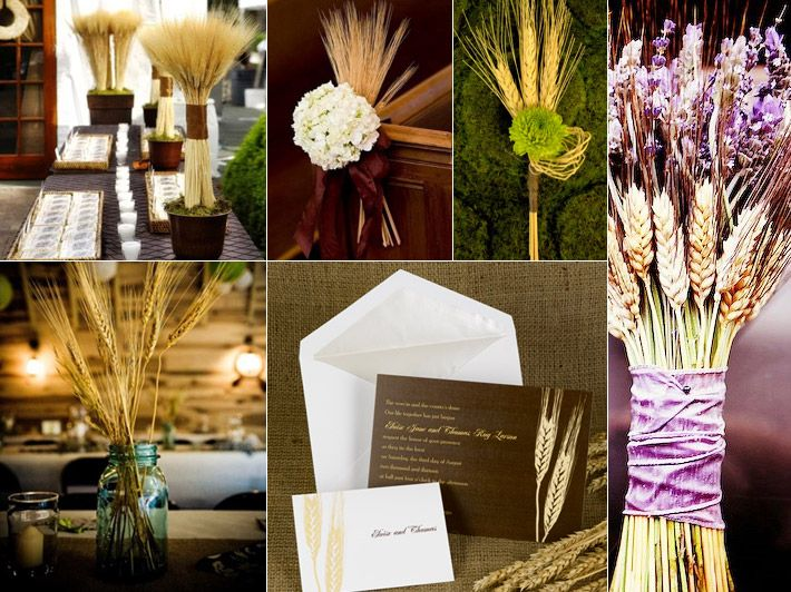 Inspiration Board: Wheat For Fall Weddings