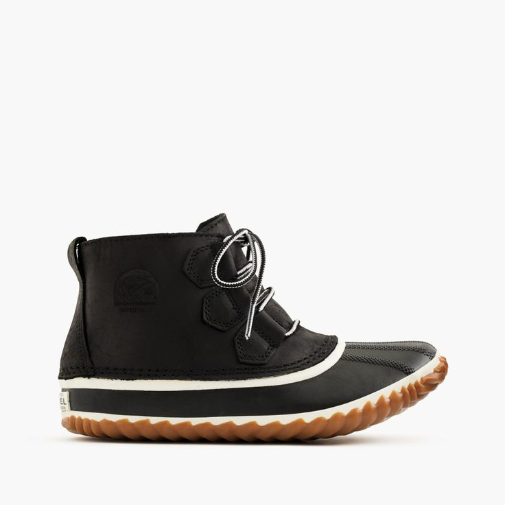 J.Crew Gift Guide: women's Sorel® Out N About™ leather boots in black.