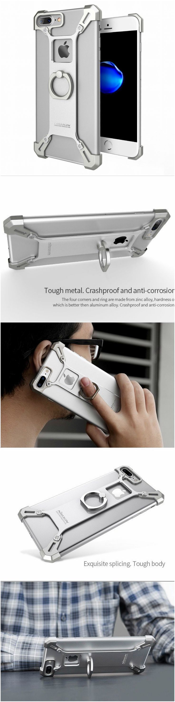 New iPhone 7 Plus fashion slim metal case with style for the savvy users. Fits well into workout and gym clothes. Great gift accessory products for iPhone 7 Plus owners, gizmos lovers, current smartphone and cellphone owners, shoppers who o are active in health and fitness and travel  #tech
