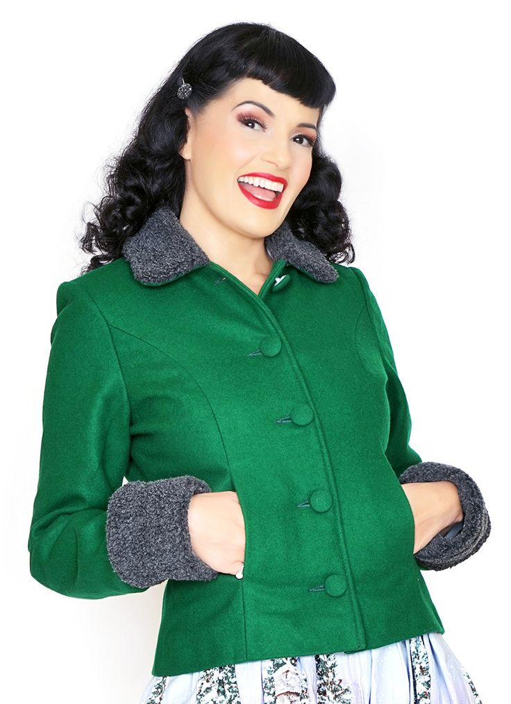 Bernie Dexter Green Kitten Jacket