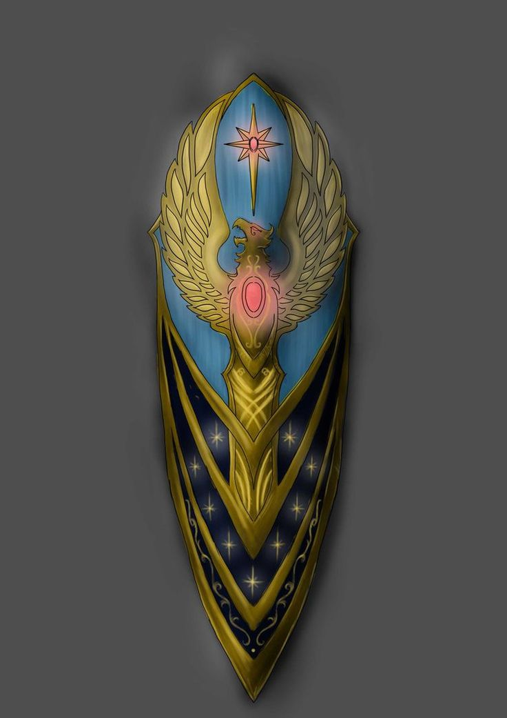 Warhammer elven shield by Pepes-pen