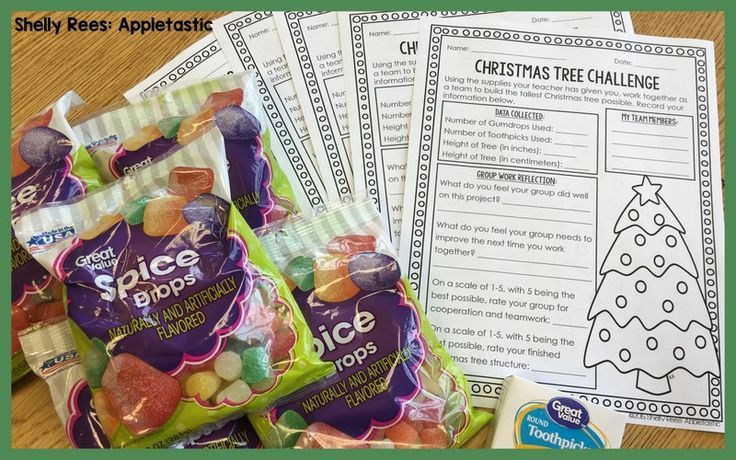FREE Christmas Tree Challenge data recording sheet. Great blog post with information for this mini STEM challenge. FUN and easy planning!