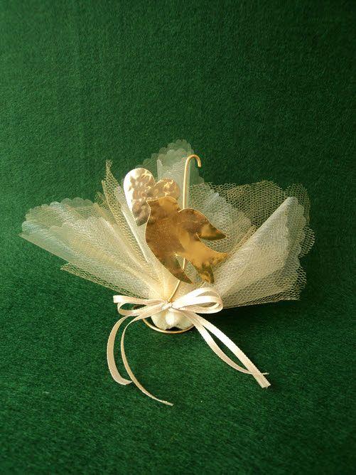 Μπομπονιέρα γάμου μεταλλικό περιστέρι
