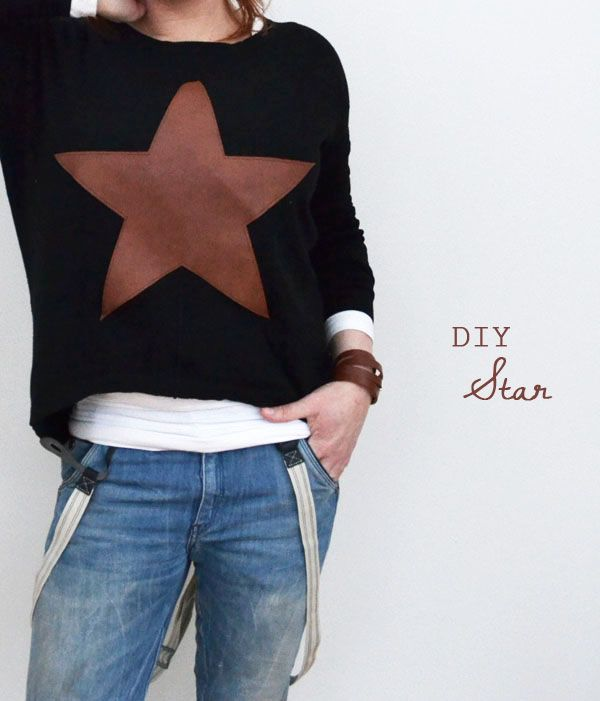 DIY star sweater