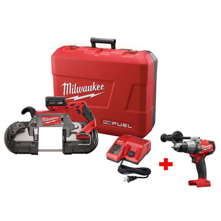 Milwaukee M18 Fuel 18-Volt Lithium-Ion Brushless Deep Cut Band Saw Kit with Free M18 Fuel 1/2 in. Hammer Drill