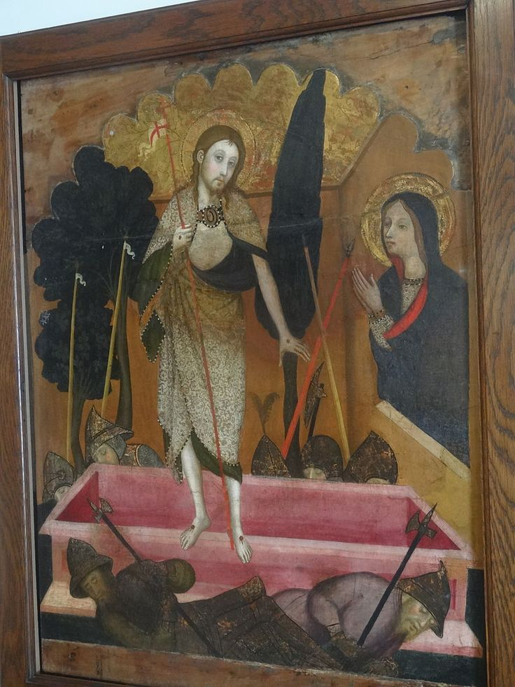 Maricel музей (внутри). Воскресение ( Педро СерраПедро Серра CA 1400 от церкви Sant Pere de Cubells.