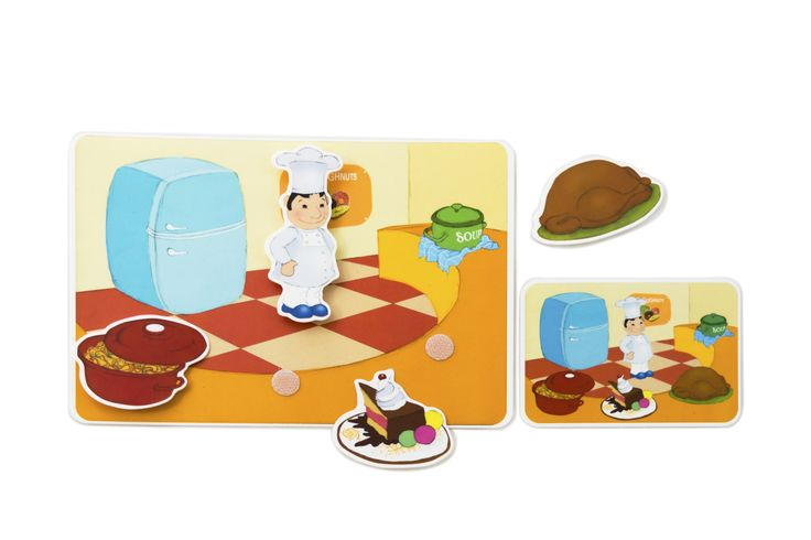 Picnmix- People at Work- Cook's Card. Where does the cook work? What does he make?