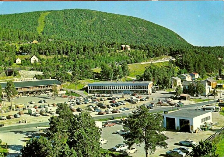 Oppland fylke Dovre kommune Dombås sentrum 1970-tallet Utg Normann