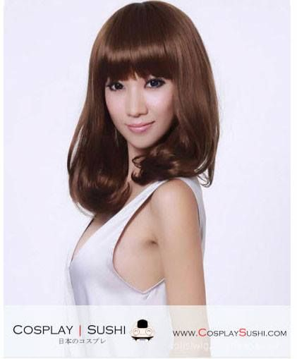 NEW KYUNG-SON MEDIUM HAIR WIGS heart emoticon SHOP NOW: http://bit.ly/1Bf4bvK #mediumhair #wig #hairwigs