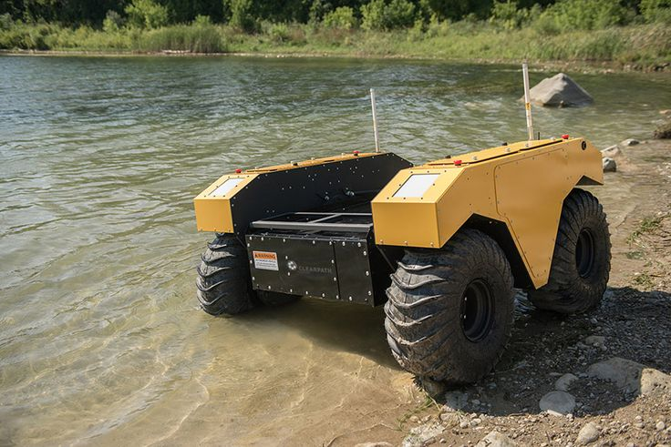 "Clearpath Robotics launches ""Warthog UGV"", the amphibious robot"