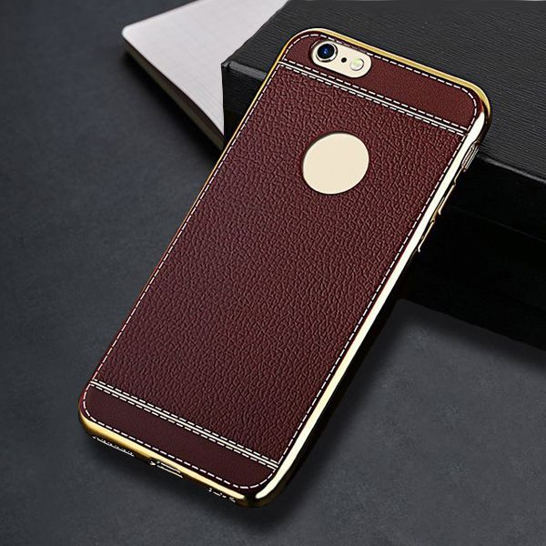 Sale 27% (2.99$) - Litchi Texture TPU Silicone Shockproof Case For iPhone 7
