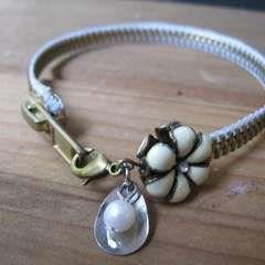 Flower Zipper Bracelet