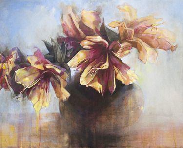 Saatchi Online Artist Lee Molenaar; Painting, Hibiscus #art