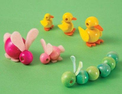 Bead babies. Great idea for miniature nursery.