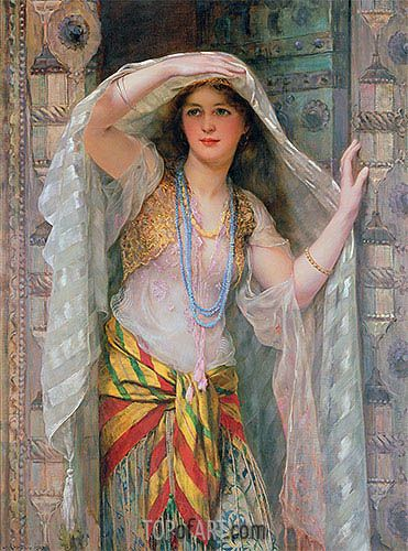 Painting Title: Safie, 1900 | Artist: William Clarke Wontner (1857-1930) | Fine Art Painting Reproduction by TOPofART.com