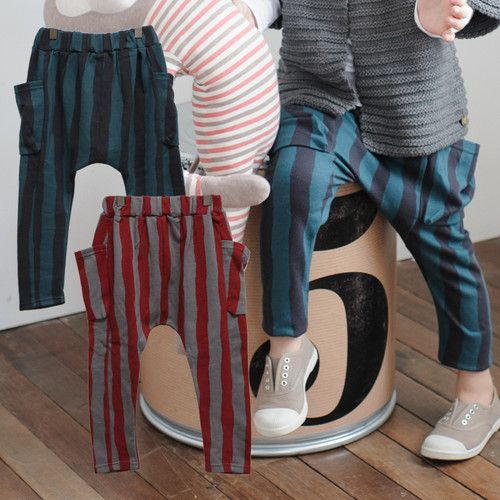 Striped Baggy Pants