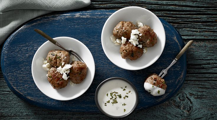 Tre Stelle® Feta Cheese Greek Meatballs in a Lemon Cream Sauce