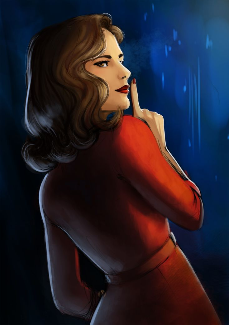 Peggy Carter in a red dress fanart by elnawen