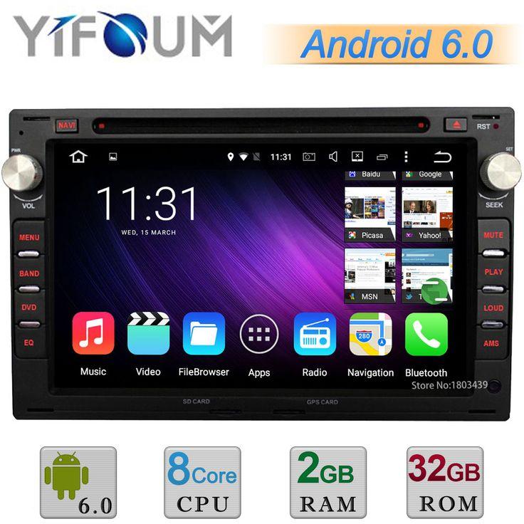 2GB+32GB WIFI Android 6.0.1 Octa Core Car DVD Player Radio GPS Navigation For VW Jetta Polo Bora Golf Passat Transporter T5 Seat