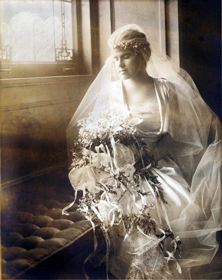 Marjorie Congdon on her wedding day, December 31, 1917