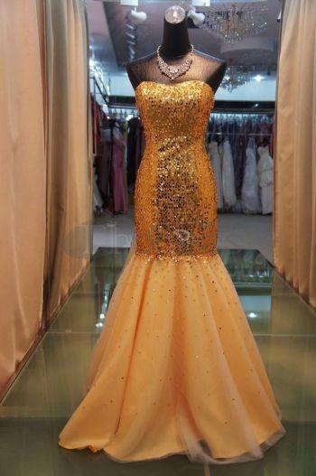 Abiti da Sera Eleganti-sexy abiti da sera eleganti attillati oro paillettes