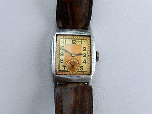 Ancienne montre mécanique pour homme bicolore ancre 15 Rubis des années 30 ? | eBay