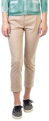 Prada Women's Cotton Slim Fit Chino Pants Khaki.