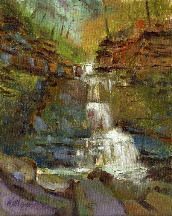 Waterfall Oil Paintings Sale Ireland Waterfall By Artist Hall Groat Ii On Dailypainters Com Waterfall Paintings Landscape Art Painting Landscape Art