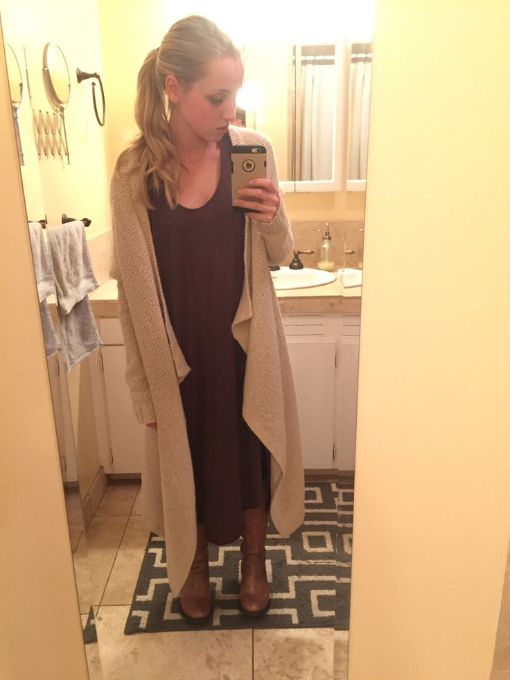DRESSEMBER DAY 17: gray dress - free people    Cardi - forever 21    boots - Steve Madden