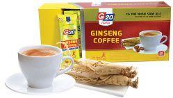 G 20 - КОФЕ С ЖЕНЬШЕНЕМ 4 IN 1 (GINSENG COFFEE) - РАСТВОРИМЫЙ 20 ПАКЕТИКОВ - 360 гр. Вьетнам.