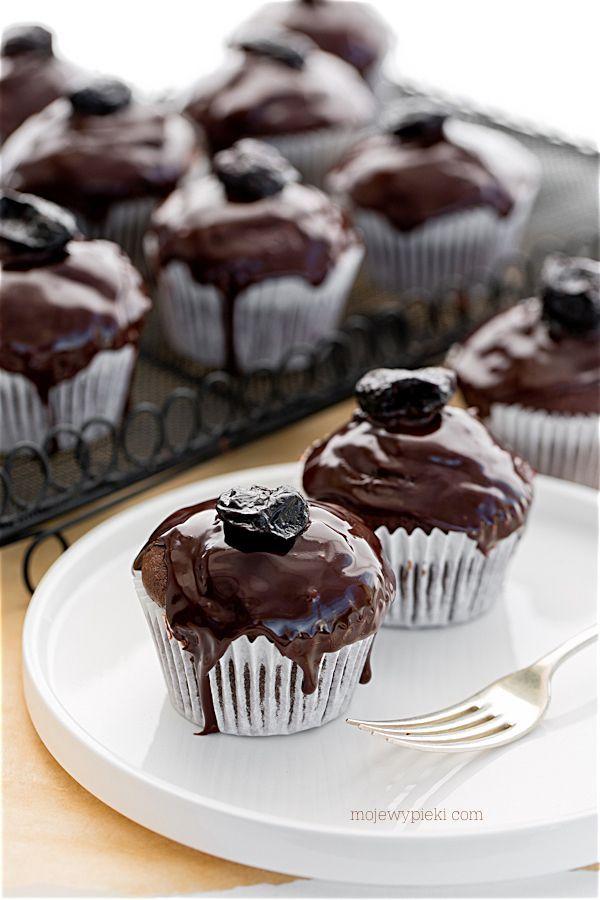 """Muffiny """"śliwka w czekoladzie"""""""