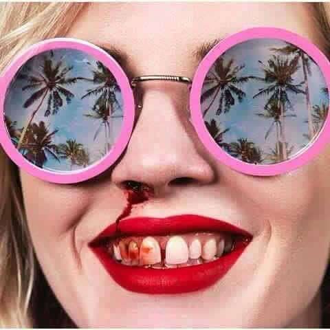 #pink #tropical #acid