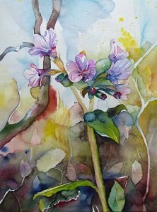 first colored (c) #watercolor by Frank Koebsch; 30 x 40 cm; sold;  if you feel interested in how the picture is created, use this link http://frankkoebsch.wordpress.com/2012/03/24/blumen-aquarelle/
