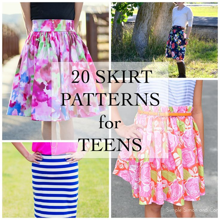 20 Skirt Patterns for Teens - Simple Simon and Company