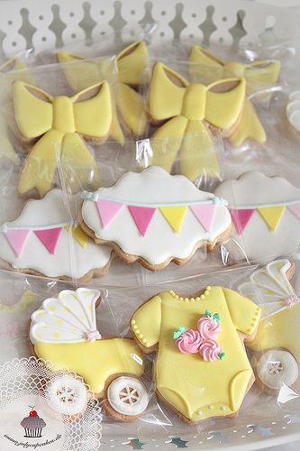 Biscoitos Decorados Confeitados | Chá de Bebê Menina