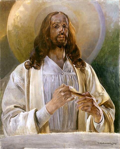 1909 Chrystus w Emaus. Malczewski Яцек