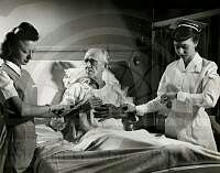 Patient care at Strong Memorial Hospital, Rochester, N.Y., 1949. Photo by William Rittase, Philadelphia.