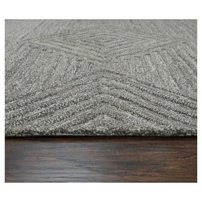 Geometric/Solid Rug - Grey - (10'X13') - Rizzy Home, Durable