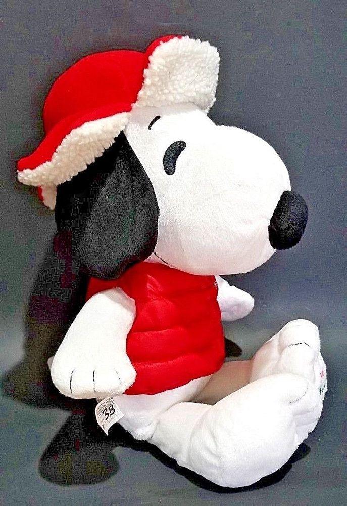 Peanuts Macys 2015 Snoopy Plush Stuffed Animal Doll Red Jacket Boy