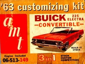 1963 Buick Electra 225 Convertible (3 'n 1) Stock, Custom or Competition (1/25) MINT | Stuff the Wife should buy me | Pinterest | Buick electra, Cars and Model…