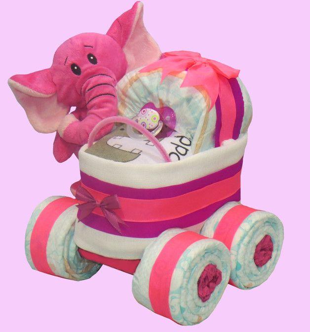 """★ Windelkinderwagen XL-Reifen """"Elefant"""" in rosa ★"""