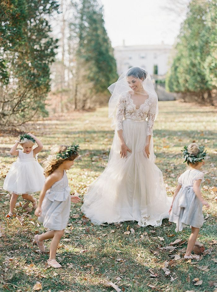 romantic flower girl inspiration | image via: once wed