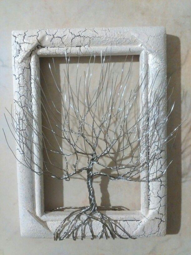 Wire tree - nerezový v rámečku