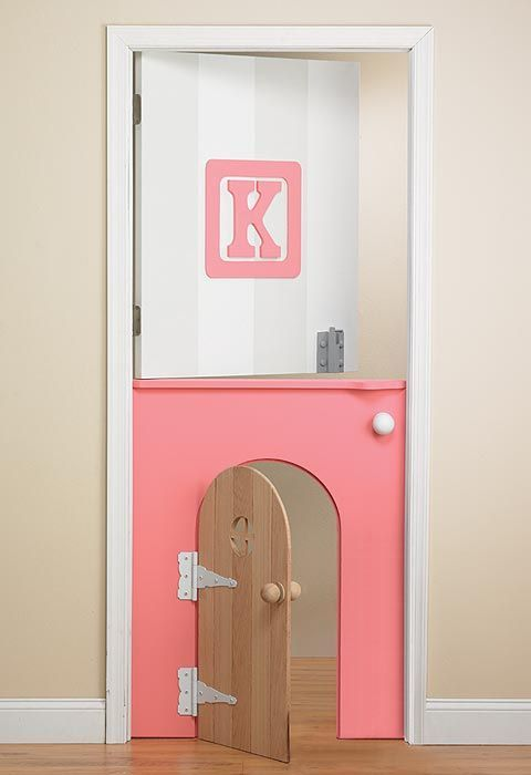 mommo design: KIDS DOORS Find an inexpensive door- just repaint if we have multiple kids and switch out to a regular size once they grow out of the half door!