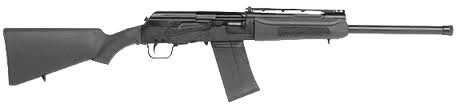 Stock Saiga 12 Shotgun. The Saiga-12 is a Kalashnikov-pattern 12 gauge combat shotgun available in a wide range of configurations. Like the Kalashnikov rifle variants, it is a rotating bolt, gas-operated gun that feeds from a box magazine - in other words, this is a semi-automatic shotgun based on the AK-47 platform not requiring pump action!
