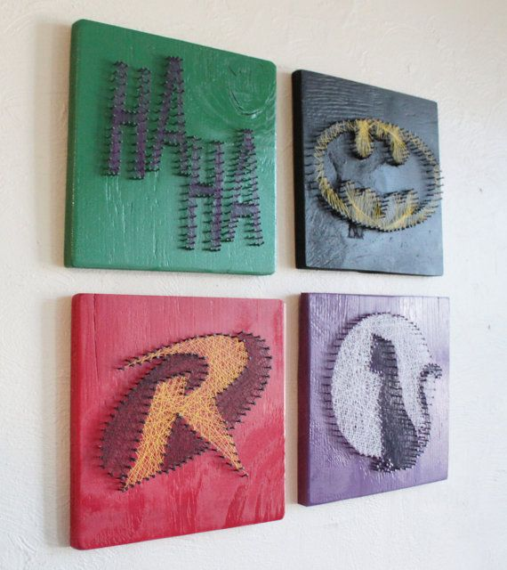 Possibly for a super hero themed baby room. Love the idea.