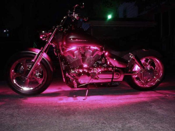 Pink Led 5mm Lights Fits Harley Davidson Honda Kawasaki