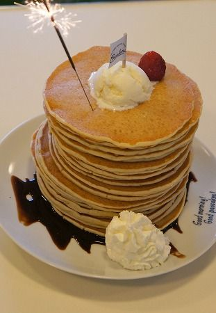 Birthday pancake stack