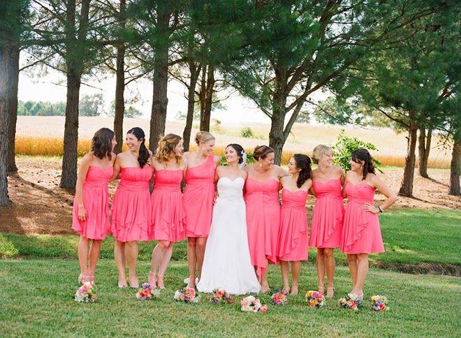 Pretty Coral Rustic Wedding - Belle The Magazine
